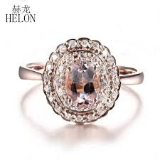 antique rings images Helon noble real natural diamonds 7x5mm oval morganite fine jpg