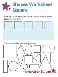 color the square path shapes worksheets worksheets and math