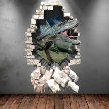dinosaur wall decal 3d dinosaur t rex wall art sticker decal zoom