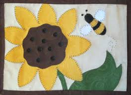 Mug Rug Designs Sunflower Mug Rug Pattern By Quilt Doodle Designs At Kayewood Com