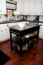 kitchen islands with tables attached hickory wood honey glass panel door roll around kitchen island