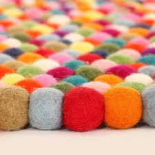 Kid Rug by Original Multi Color Felt Ball Rug Rosenberryrooms Com