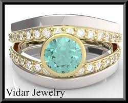 turquoise wedding rings turquoise tourmaline and wedding ring and engagement ring