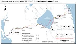 Intracoastal Waterway Map Voyages Of Sea Trek The Okeechobee Waterway