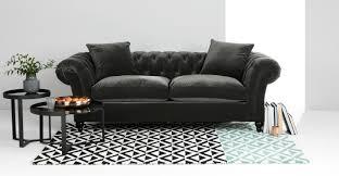 furniture cooper grey velvet sofa from tov furniture with black
