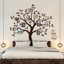 amazon com family tree wall decal 9 large photo pictures frames timber artbox beautiful family tree wall decal with quote the only decor you need for living room bedroom