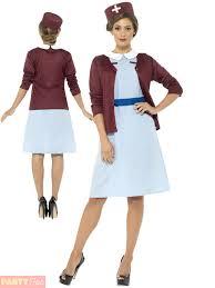 ladies vintage nurse costume adults uniform fancy dress womens