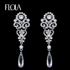 wedding earrings drop flola silver drop earrings for women luxury wedding