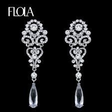 wedding earrings drop flola silver drop earrings for women luxury wedding