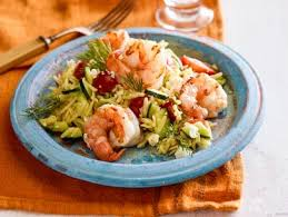 dill mustard orzo and grilled shrimp salad with mustard dill vinaigrette