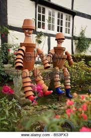 bill and ben flower pot men garden display stock photo royalty