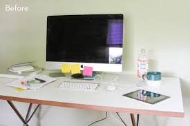 How To Organize Desk Before And After How To Style And Organize Your Desk In 6 Simple