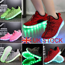 size 5 light up shoes kids boys girls light up shoes led flashing trainers casual sneakers