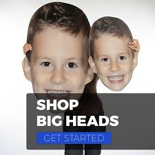 fan faces on a stick instant custom big face cutouts huge head signs by build a head