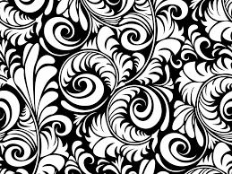 black and white floral images clipart