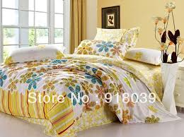 Yellow Bedding Set Sale 100 Cotton Bedding Sets Printing Sunflower Bedding