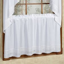 Danielle Eyelet Curtains by Danielle Embroidered Trim Tier Window Treatment