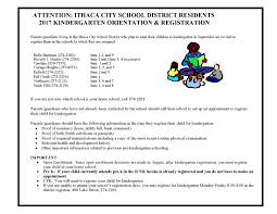registration ithaca district