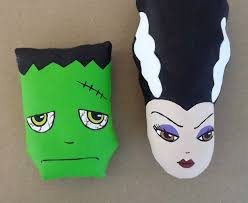 halloween arts and crafts diy mr u0026 mrs frankenstein cloth