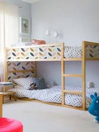 Bunk Bed Shelf Ikea Mommo Design New Look For Kura With Stickers Room Decor