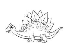 dinosaur coloring pages royalty free stock photos image 35333168