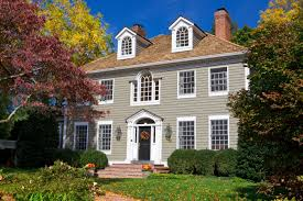 colonial style home leaf supreme