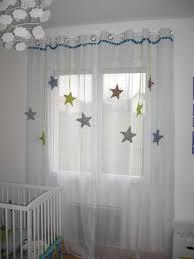 tenture chambre bébé sur commande rideau enfant voilage étoile tissu et satin autres