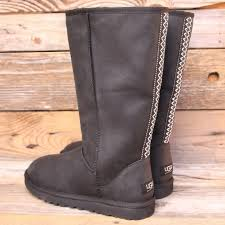 womens ugg boots usa ugg tasman leather black boots us 9 no trades
