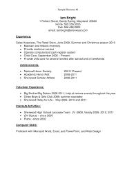 resume exles for non college graduates resume template sle resume for recent high graduate