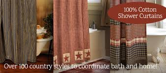primitive shower curtains and country shower curtains