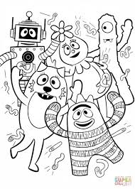 yo gabba gabba coloring page free printable coloring pages