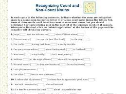 count and noncount nouns worksheet pdf free download bonus