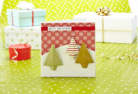 Paper Craft Christmas Cards - easy origami christmas tree cards papercraft inspirations