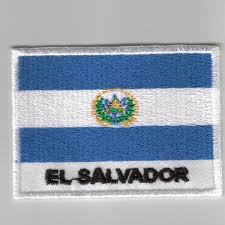 Country Flag Images Salvador Embroidered Patches Country Flag El Salvador Patches