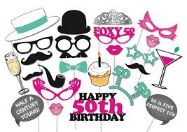 photo booth party props 50th birthday photobooth party props set 26 printable