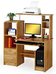 Bookshelf Design With Study Table Multi Function Wooden Computer Desk With Cpu Holder Bookshelf Lock