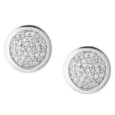 silver stud earrings uk links of london diamond essentials silver stud earrings 0101600