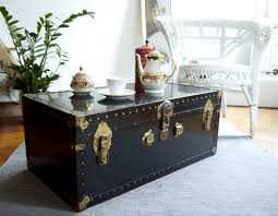 Coffee Table Trunks Travel Trunk Coffee Table Repurposed Pinterest Trunk Coffee