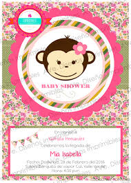 invitaciones de changuita para baby shower invitaciones de