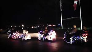 parade of motorcycles decorated for christmas youtube