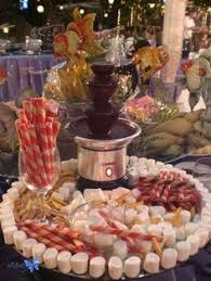 Chocolate Candy Buffet Ideas by Chocolate Fountain Party Ideas Chocolate Fountains Fountain And