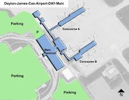 dayton map dayton cox day airport terminal map