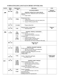 scheme of work english form 4 2016 test assessment verb
