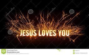 jesus loves you stock vector image 43448502