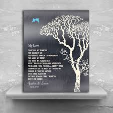 10 year wedding anniversary gifts for my poem personalized tin 10 year wedding anniversary gift