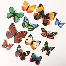 12pcs 3d butterfly brooch wall sticker home room curtain wedding