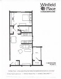 bedroom floorplan one bedroom floor plan winfield place condominiumsscottsdale