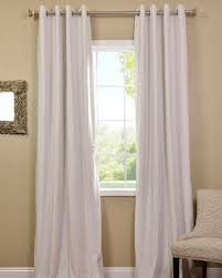 Blackout Curtain Panels With Grommets White Linen Grommet Top Curtains Set Of 2 World Market White