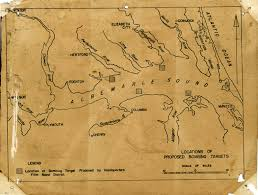 Map Of Outer Banks Nc Family Traditions Of Service Proposed Bombing Locations