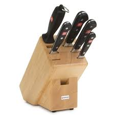 kitchen knives block set wusthof trident classic knife block set 6pce peter u0027s of kensington